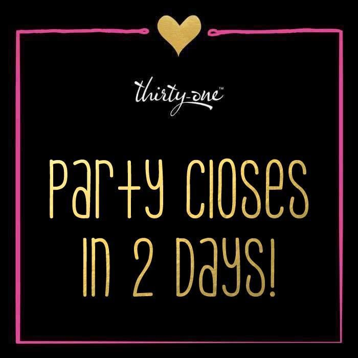 Party closes in 2 days!  #ThirtyOne #ThirtyOneGifts #31Party…