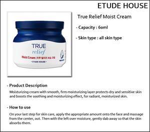 [Etude House Sampel] True Relief Moist Cream Sample