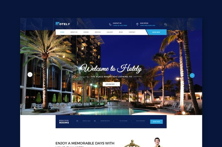Hotely - Hotel Booking & Travel HTML Template by WPmines