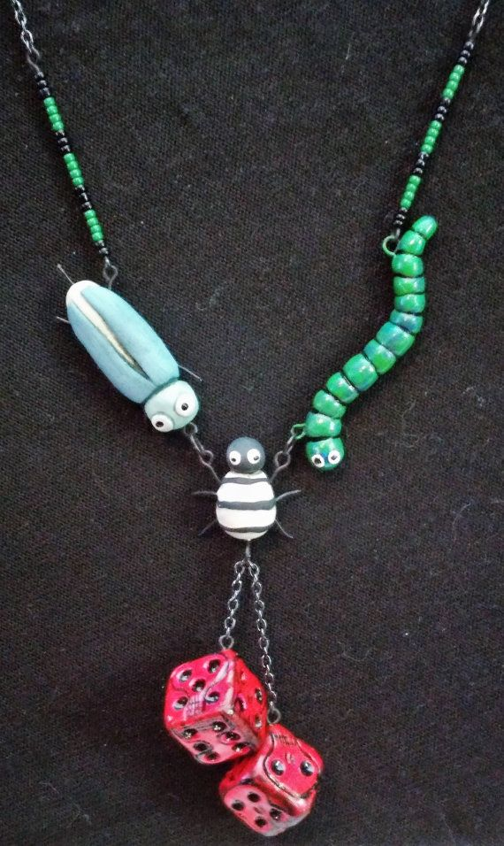 Oogie Boogie bugs and dice Necklace by LairAndLaughables on Etsy