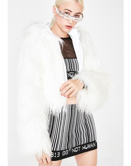 19f7ee0cd Spark The Light Faux Fur Coat #dollskill #clubexx #lightup #fur #caot  #playa #rave