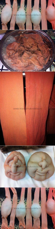 Варим колготки с белизной, материал для кукол. Мастер-класс. | Мастер-к� | скульптурный текстиль | Постила
