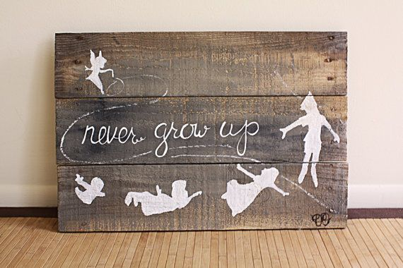 Peter Pan Hand Painted Wood Pallet Decoration by HippieDippieArts, $40.00