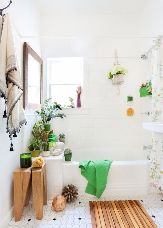5 ideas for a quick rental bathroom makeover try indoor plants for decor - Small Bathroom Ideas Apartment Therapy