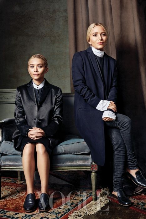Mary Kate and Ashley in the Row for Double Act - VOGUE Korea