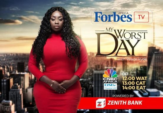 Forbes Africa TV - My worst day with Peace Hyde premiers May 4th - http://www.thelivefeeds.com/forbes-africa-tv-my-worst-day-with-peace-hyde-premiers-may-4th/