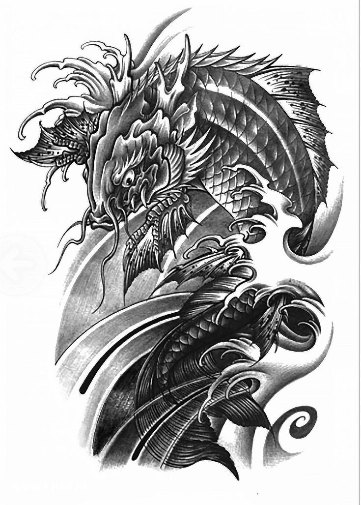 11 best asian koi dragon images on pinterest koi dragon tattoo dragon tattoos and japan tattoo. Black Bedroom Furniture Sets. Home Design Ideas