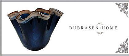 Dubrasen - Exclusive Blue Glass Vase for home decor
