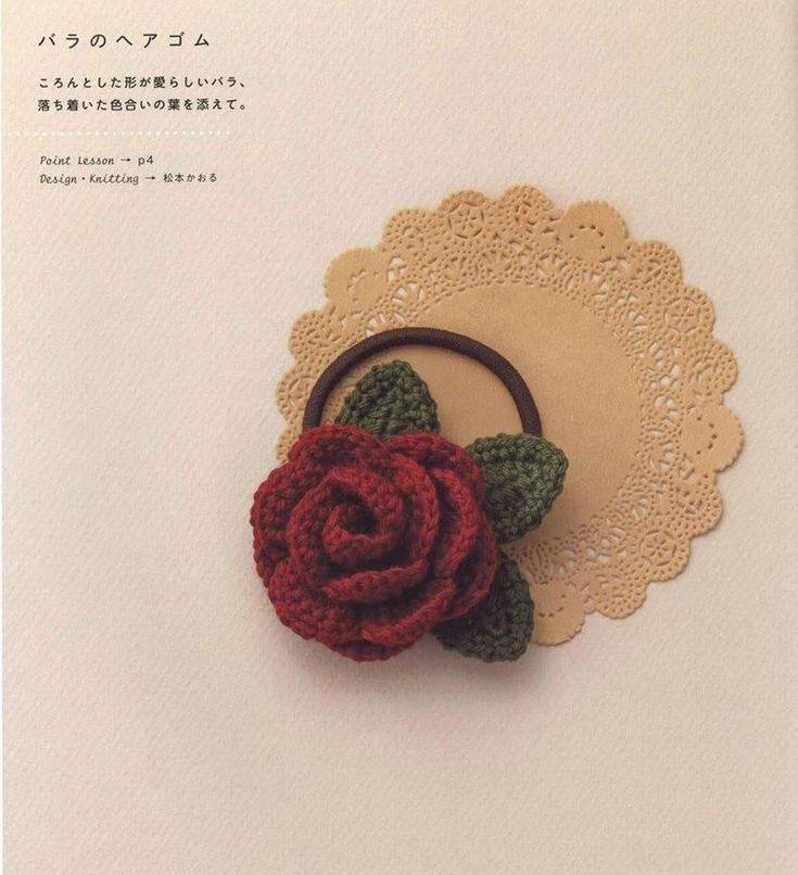Coleta de Rosa a Crochet