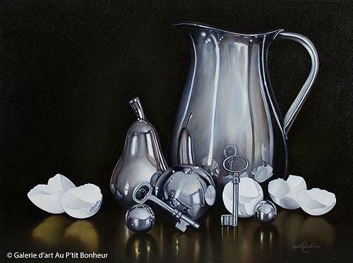 Mickie Acierno, 'Upon Reflection', 18'' x 24'' | Galerie d'art - Au P'tit Bonheur - Art Gallery