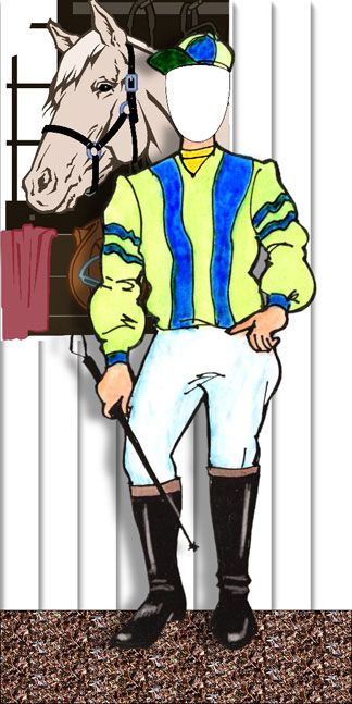 Kentucky Derby Theme Horse Racing Jockey Photo Op / It's your turn to be a jockey!