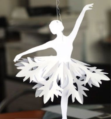 ❤ Hópehely balerinák papír hópelyhekből egyszerűen ❤Mindy -  kreatív ötletek és dekorációk minden napra