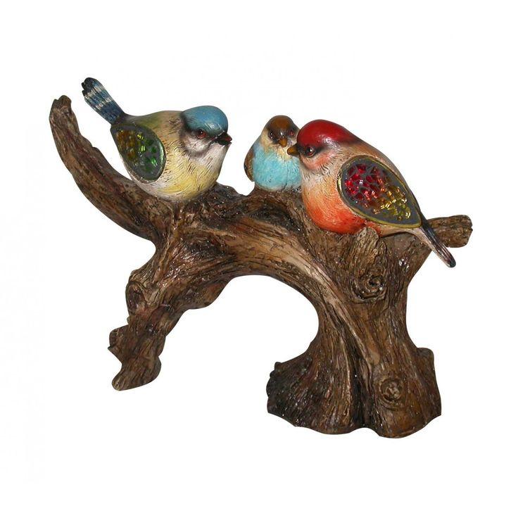 Ágon ülő szines madarak