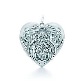 Tiffany & Co. Ziegfeld Collection daisy locket in sterling silver. #TiffanyPinterest
