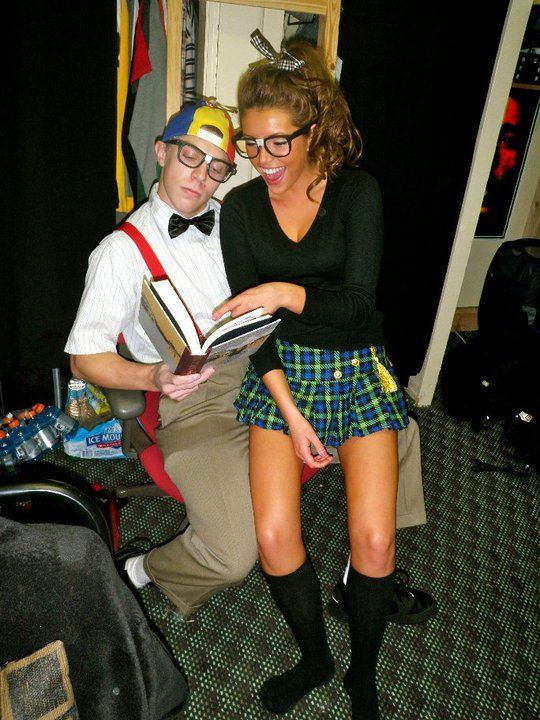 nerd couple :) My favorite Halloween outfit when I dont have a costume