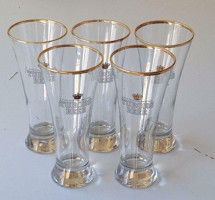 5X TUBORG BEER ÖLGLAS GLAS