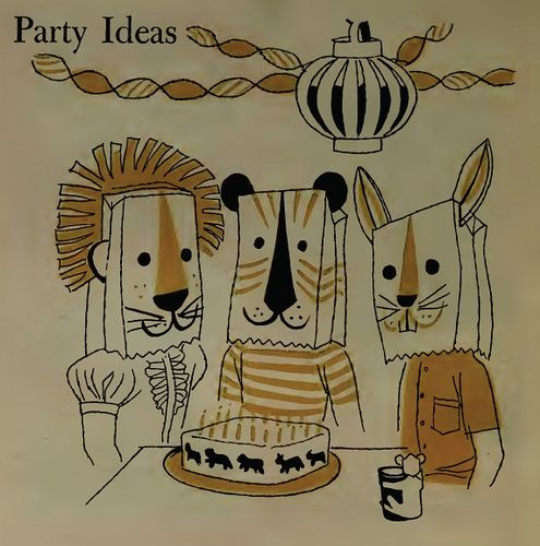 party ideas from the betty crocker cookbook for boys & girls (1957)