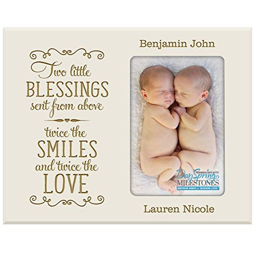 59 best personalized baby photo frames images on pinterest infant personalized new baby gifts for twins picture frame for boys and girls custom engraved photo frame negle Image collections