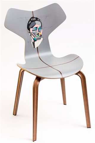 L'Alchimista - Fritz Hansen Grand Prix chair, tattoo by Pietro Sedda for Fantastic Wood project by Diego Grandi. On auction for Dynamo Camp http://www.charitystars.com/auctions?tid=565