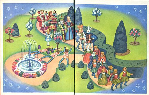 Endpapers Alice in Wonderland Illustrated by Janice Holland; Rand McNally, 1951