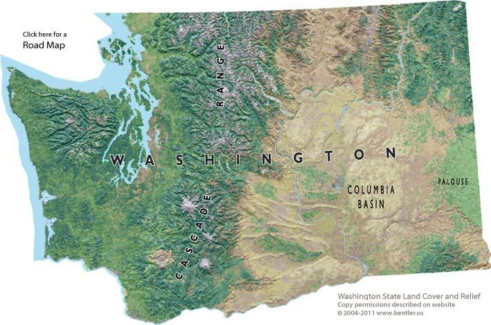 washington state...We have ocean beaches, rain forrest, big cityies, mountians, desert, and everything in between...I love this state!