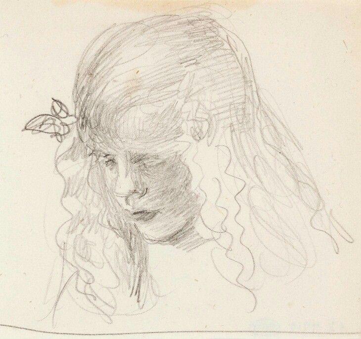 Venny Soldan-Brofeldt (Finnish artist) 1863 - 1945 Antti, 1906-07 pencil 7.7 x 8.5 cm. Finnish National Gallery, Helsinki, Finland Wendla