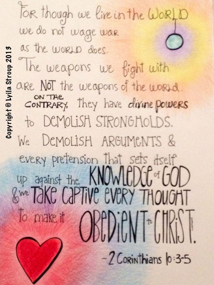 2 Corinthians 10 3 5 A Doodle Or Two 2 Corinthians 10