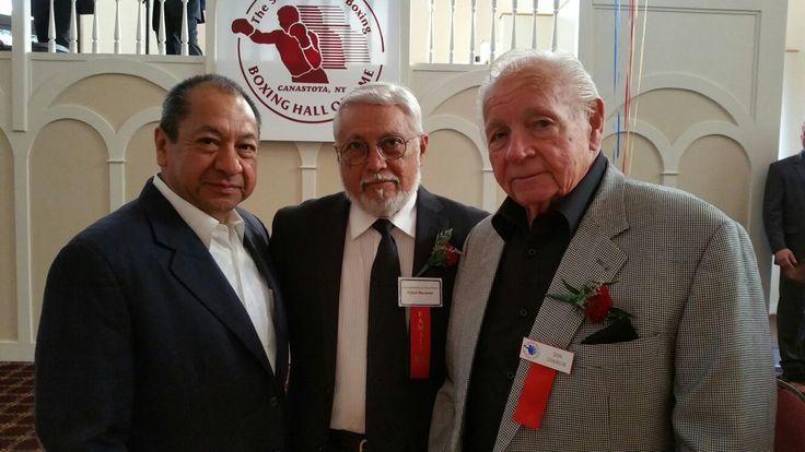 Alberto Reyes, Rafael Mendoza y Don Chargin, Hall of Fame 2016. #CletoReyes #boxing #HallOfFame