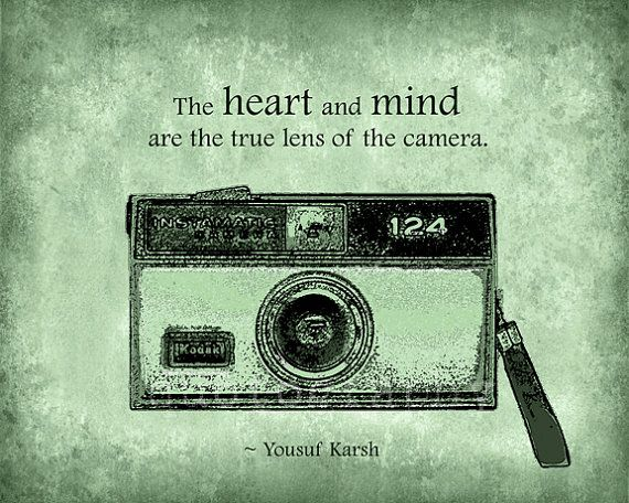 True Lens - Moss Green - 8x10 photo print - Vintage Kodak Camera Photographer Photography Quote Type Heart Mind Texture Poster Wall Art. $25.00, via Etsy.