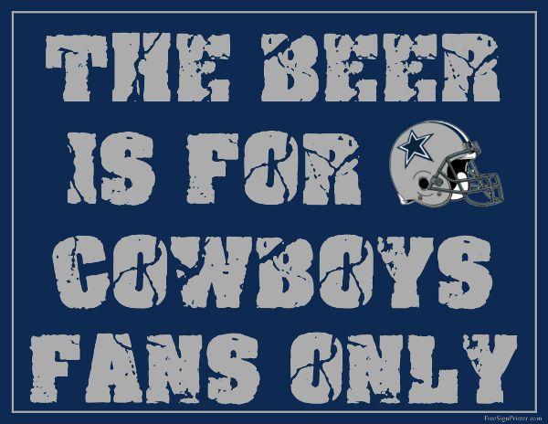 Dallas Cowboys Fan Sign - Man Cave Sign