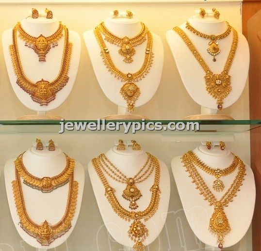 Gold Haram Designs Latest Jewellery Designs Bridal