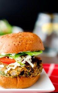 Black Bean Quinoa Cheddar Burgers - Wendy Polisi