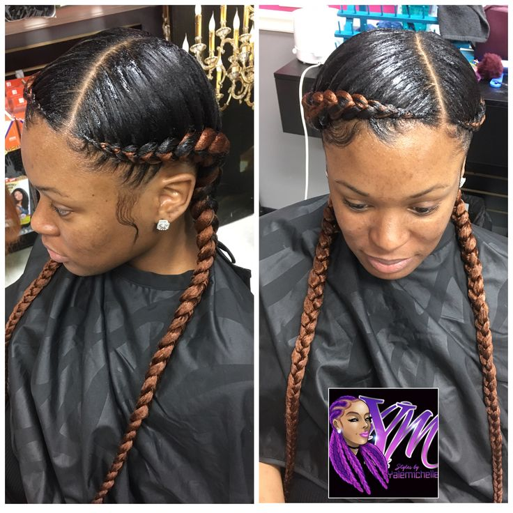 Feed in braids #CornrowsHairstyles