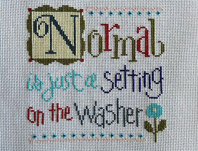 completed cross stitch lizzie kate NORMAL is just a setting on the washer