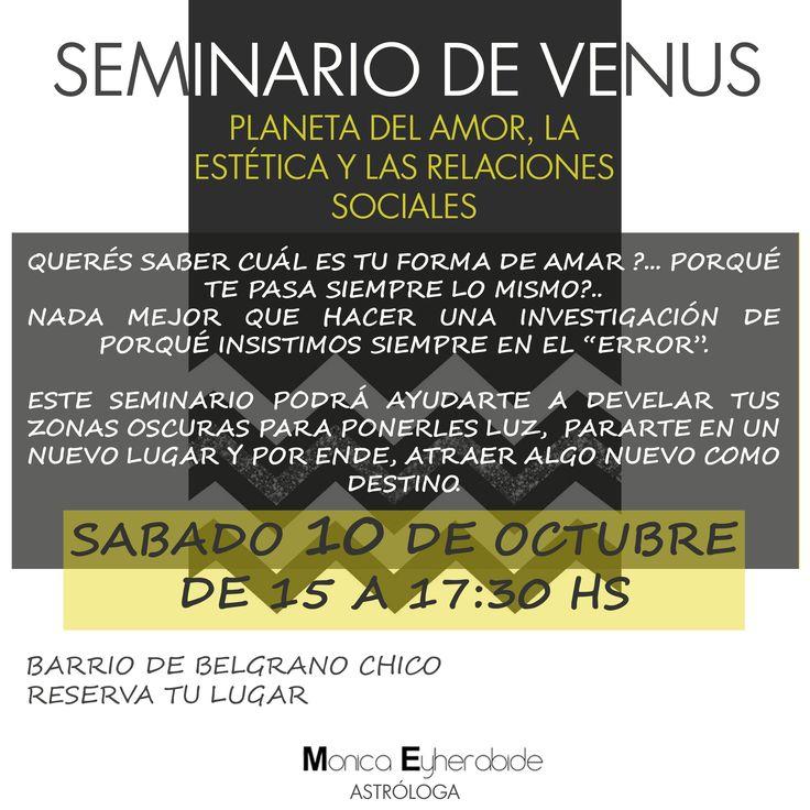 Seminario de Venus #venus #monicaeyherabide #astrologia #astrology #love #tuastrologa