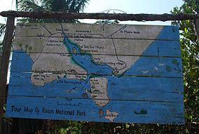 Ream National Park - Tour Map, Cambodia