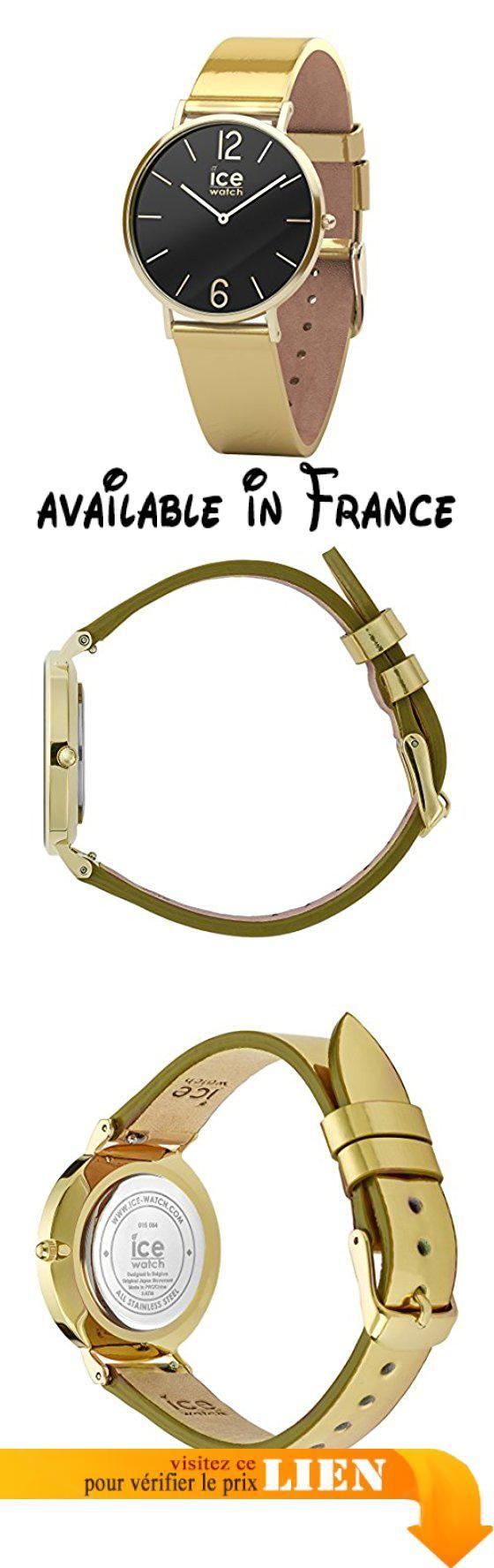 B078CQH3MP : Ice-Watch - CITY sparkling - Metal Gold - Montre dorée pour femme avec bracelet en cuir - 015084 (Extra Small). Garantie: 2 ans. ETANCHEITE :3 ATM. Taille: femmes - montre bracelet. CONTIENT : Montre Boite de présentation Instructions. COLLECTION : CITY sparkling - Metal