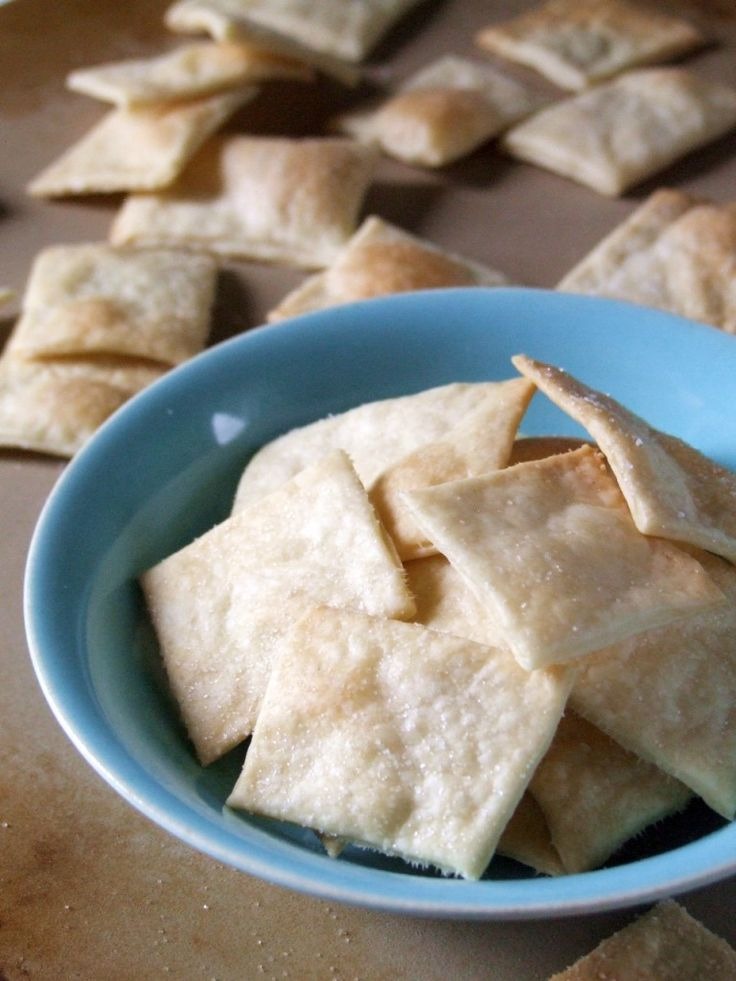 Homemade Saltines. So easy to make and yummy! Perfect with cheese!