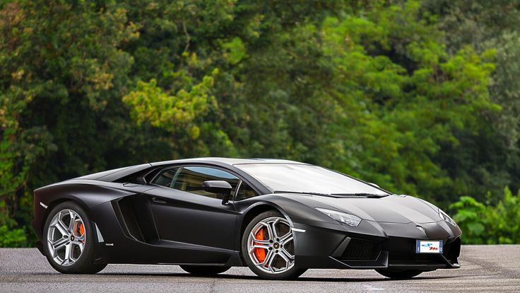 SR Auto Lamborghini Aventador Black Bull Front Wallpaper For