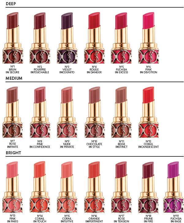25 Best Make Up Ysl Lip Swatch Images On Pinterest