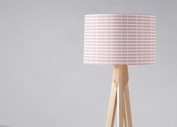 Pink Light Shade Pink White Nursery Lamp Shade Ceiling Lamp Etsy