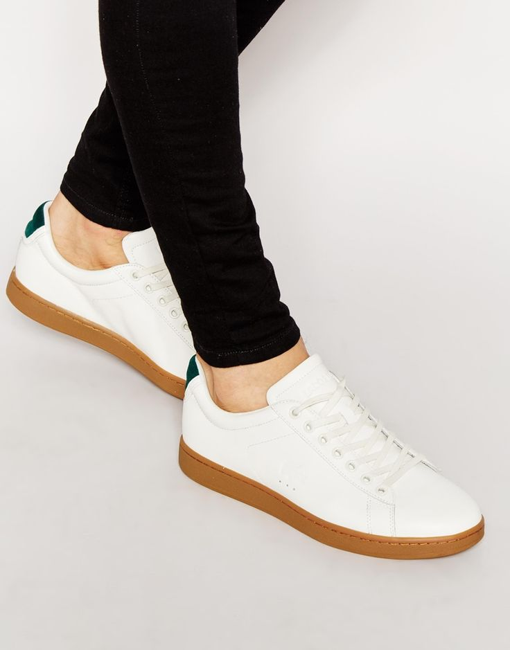 Image 1 ofLacoste Carnaby Evo Leather Trainers