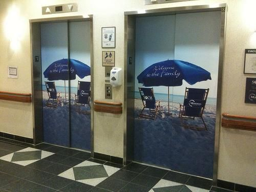 Elevator Wraps By Speedpro Imaging Advertise Anywhere