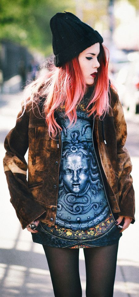 Medusa. really dig this deep coral hair color