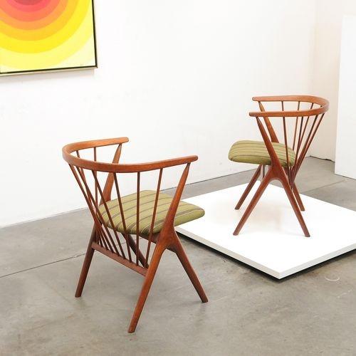 1950s Danish Modern HELGE SIBAST Teak Occasional Chairs Mid Century Vintage. 159 best home  furnish  danish et al  images on Pinterest