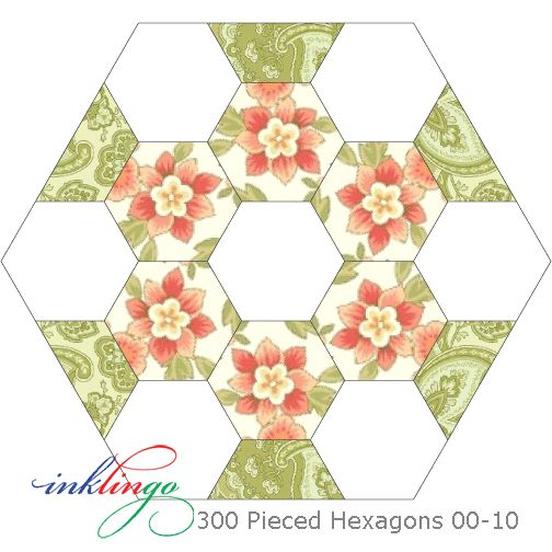 A hexagon a day keeps the blues away. 00-10 of 300 Pieced Hexagons with Marcus Fabrics Subtle Sunsets. Sew on a line with Inklingo! Simple pleasures with a needle & thread. Print. Sew. Finish. No basting, no glue, no whip-stitching. Hexagons are not just for quilters who do English Paper Piecing anymore. 300 Pieced Hexagons Video http://lindafranz.com/shop/hexagons/5/product/300-pieced-hexagons/151