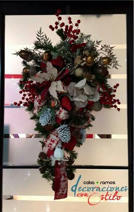 Decoración Swag navideño puerta 2014