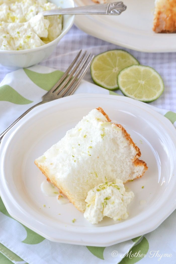 Key Lime Angel Food Cake - site blocked - have to experiment