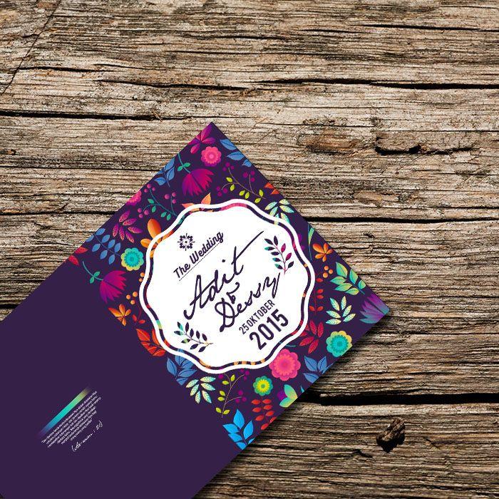 "Undangan Pernikahan Unik ""Fullcolor Flower"" on Behance"