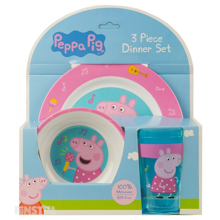 Peppa Pig Dinner Set and more Peppa Pig toys and merchandise available at Funstra